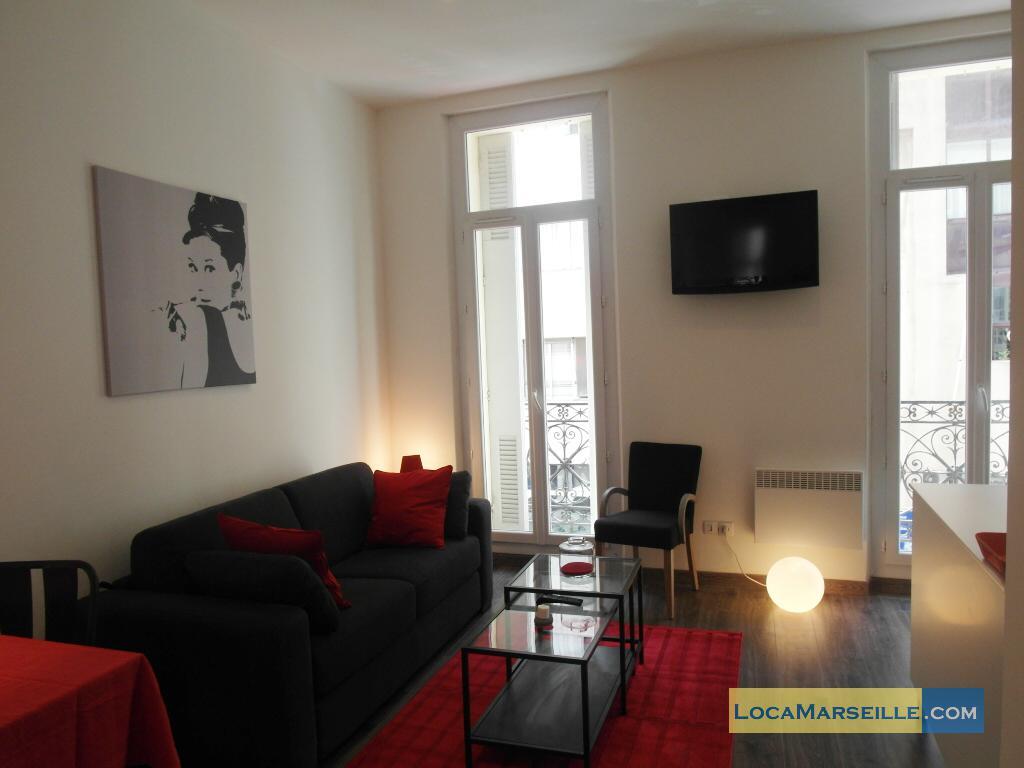Furnished studio rental marseille 6eme pr fecture 6 for Living room 101